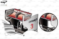 McLaren MP4/26 rear wings comparison, Singapore GP
