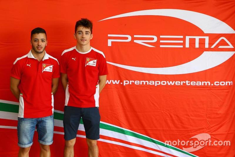 Antonio Fuoco y Charles Leclerc, Prema racing