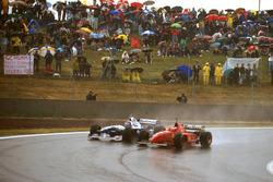 Michael Schumacher, Ferrari F310 forza Jacques Villeneuve, Williams FW18 Renault