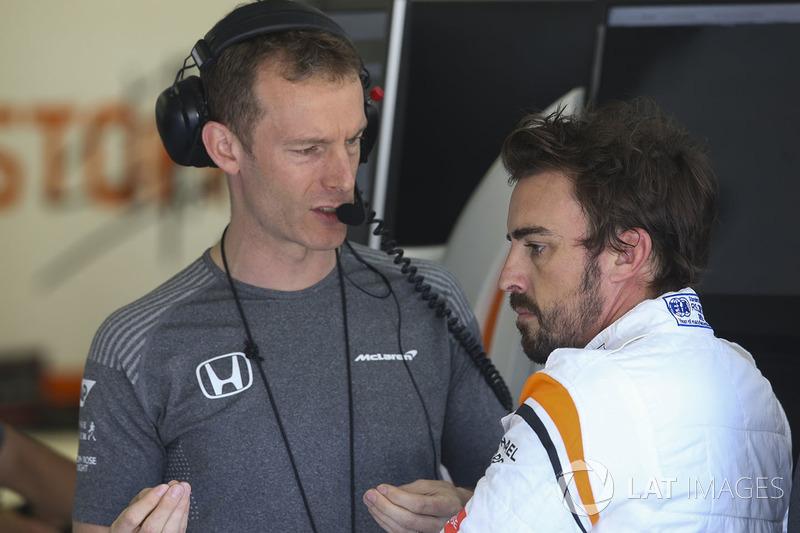 Гоночний інженер McLaren Марк Темпл, Фернандо Алонсо, McLaren
