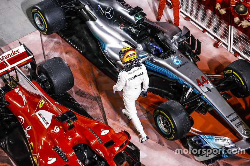 Lewis Hamilton, Mercedes AMG, second place
