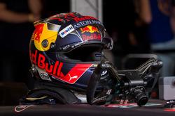 Casque de Max Verstappen lors des Jumbo Racing Days