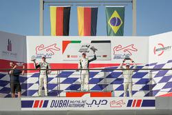 Подіум: переможець перегонів Леон Келлер, Rasgaira Motorsports, друге місце Девід Шумахер, Rasgaira Motorsports, третє місце Кайо Коллет, SILBERPFEIL Energy Dubai