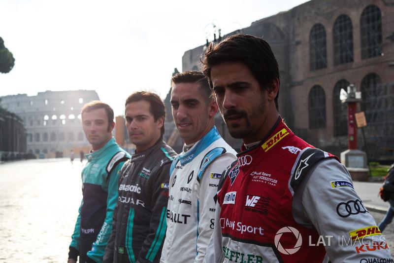 Lucas Di Grassi, Audi Sport ABT Schaeffler, Sebastien Buemi, Renault e.Dams, Nelson Piquet Jr., Jaguar Racing ve Luca Filippi, NIO Formula E Team