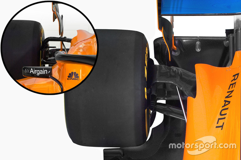 Suspension arrière de la McLaren MCL33