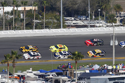 Brad Keselowski, Team Penske Ford Fusion and Erik Jones, Joe Gibbs Racing Toyota