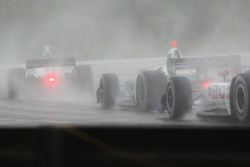 Race action in very wet conditions