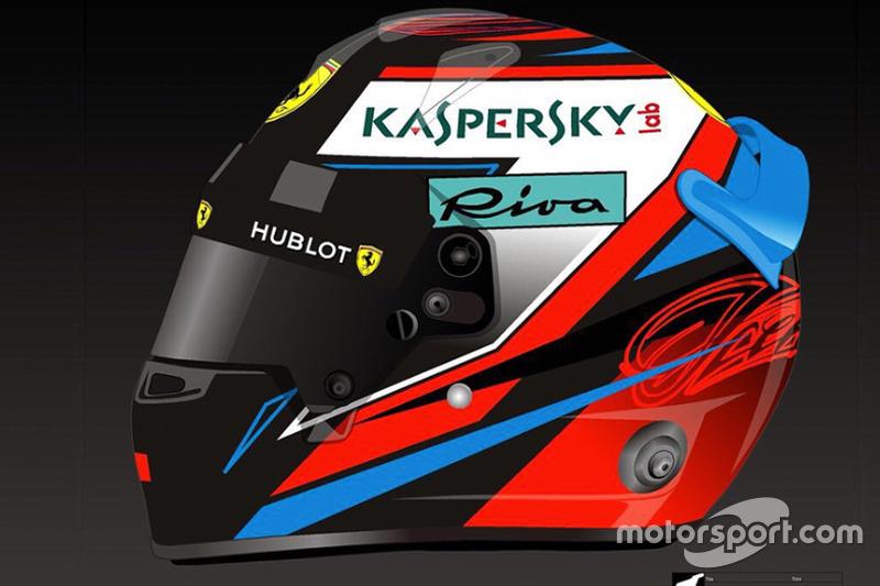 Capacete de Kimi Raikkonen para 2018