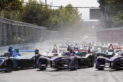 Sébastien Buemi, Renault e.Dams Sam Bird, DS Virgin Racing, Alex Lynn, DS Virgin Racing