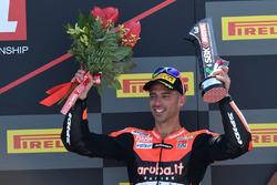 Podio: il terzo classificato Marco Melandri, Aruba.it Racing-Ducati SBK Team
