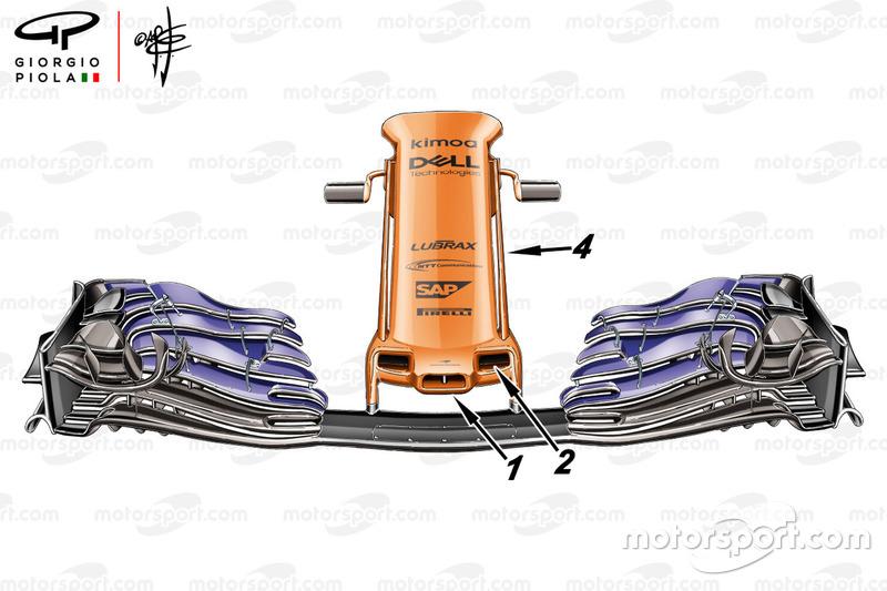الجناح الامامي لسيارة مكلارين ام.سي.آل33