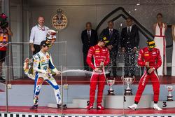 Podium: Lando Norris, Carlin, Antonio Fuoco, Charouz Racing System, Louis Deletraz, Charouz Racing System