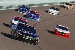 Ryan Preece, Joe Gibbs Racing Toyota and Sam Hornish Jr., Team Penske Ford