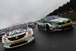 Josh Cook, Power Maxed Racing Vauxhall Astra  and Jake Hill, Team Hard Volkswagen CC
