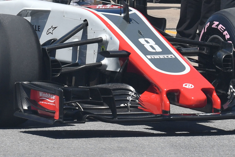 Haas F1 Team VF-18, front wing