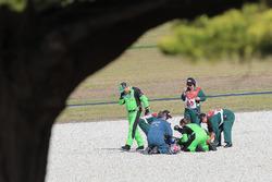 Kenan Sofuoglu, Kawasaki Puccetti Racing après sa chute