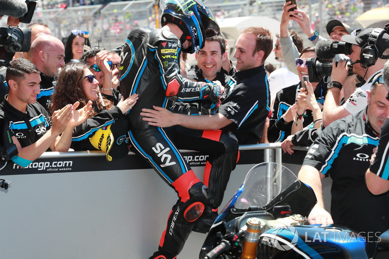 Le vainqueur Francesco Bagnaia, Sky Racing Team VR46