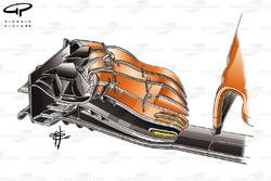 McLaren MCL32, detalle alerón delantero