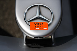 Mercedes logo op de wagen van Valtteri Bottas Mercedes AMG F1 W09