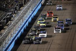 Noah Gragson, Kyle Busch Motorsports Toyota, Christopher Bell, Kyle Busch Motorsports Toyota, restart
