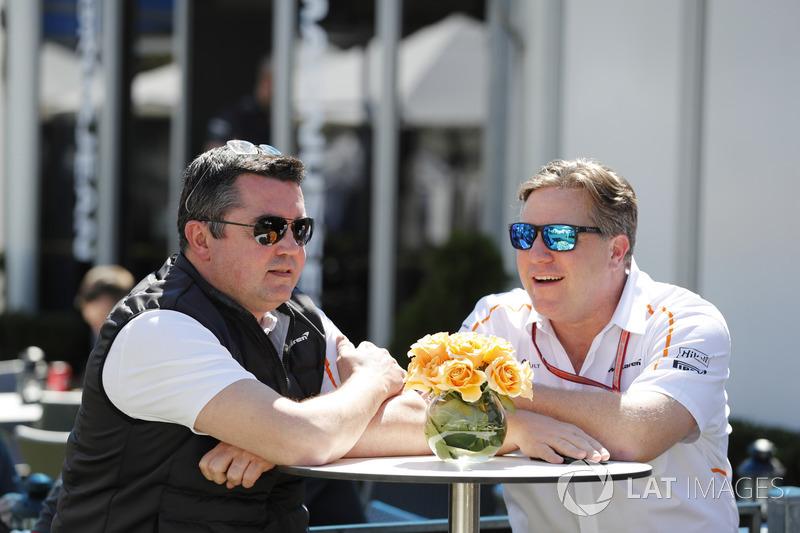 Eric Boullier, Racing Director, McLaren, and Zak Brown, Executive Director, McLaren Technology Group