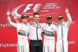 Podium: race winner Lewis Hamilton, Mercedes AMG F1, second place Nico Rosberg, Mercedes AMG F1, Riccardo Mosconi,) Mercedes AMG F1 Data Engineer, third place Valtteri Bottas, Williams