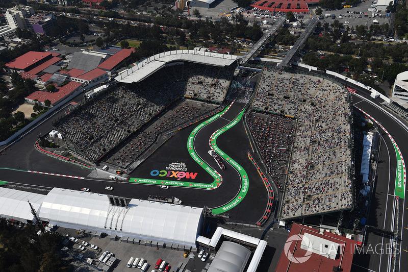Vista aérea de parte do antigo estádio