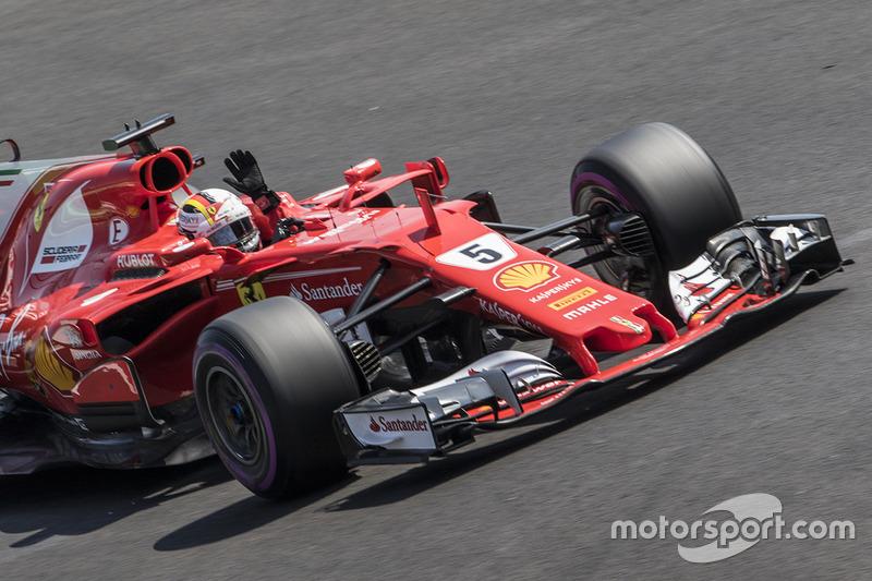 8. Sebastian Vettel, Ferrari - GP do México 2017