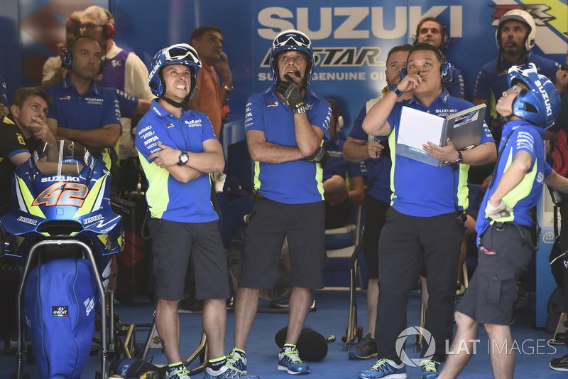 Garage of Team Suzuki MotoGP