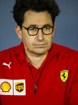 Mattia Binotto, Ferrari Chief Technical Officer, in the team principals' press conference
