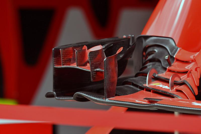Ferrari SF-71H front wing detail
