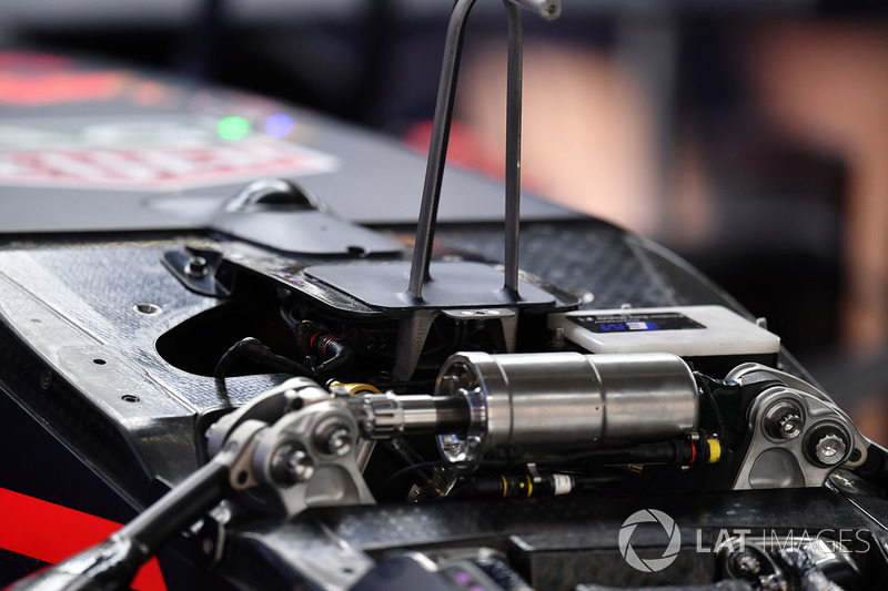 Suspension avant de la Red Bull Racing RB14