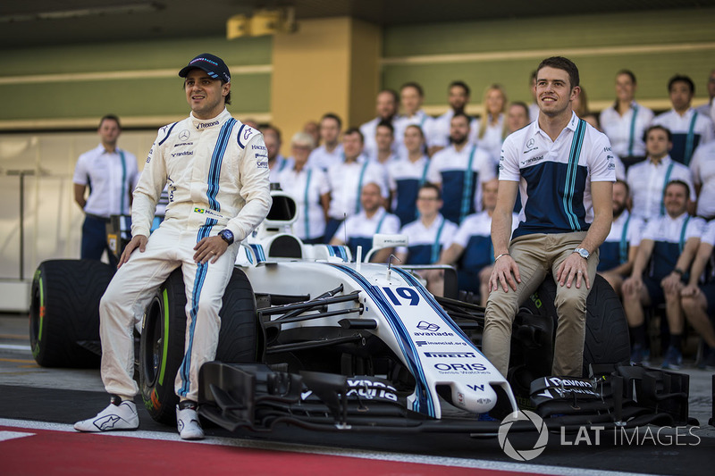Felipe Massa, Williams y Paul di Resta, Williams en la foto del  equipo Williams