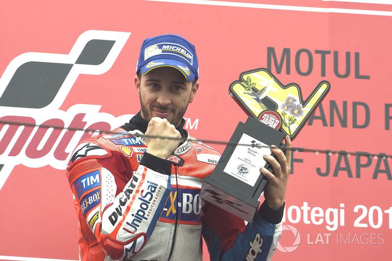 Andrea Dovizioso ganó el pasado año en Motegi, el italiano necesita volver a ganar para alargar la lucha por el campeonato