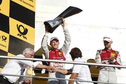 Champions Podium: second place Mattias Ekström, Audi Sport Team Abt Sportsline, Audi A5 DTM