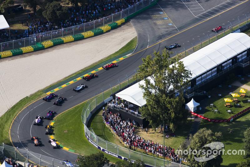 Sebastian Vettel, Ferrari, SF70H; Valtteri Bottas, Mercedes AMG F1, W08; Kimi Räikkönen; Ferrari, SF70H; Felipe Massa, Williams, FW40