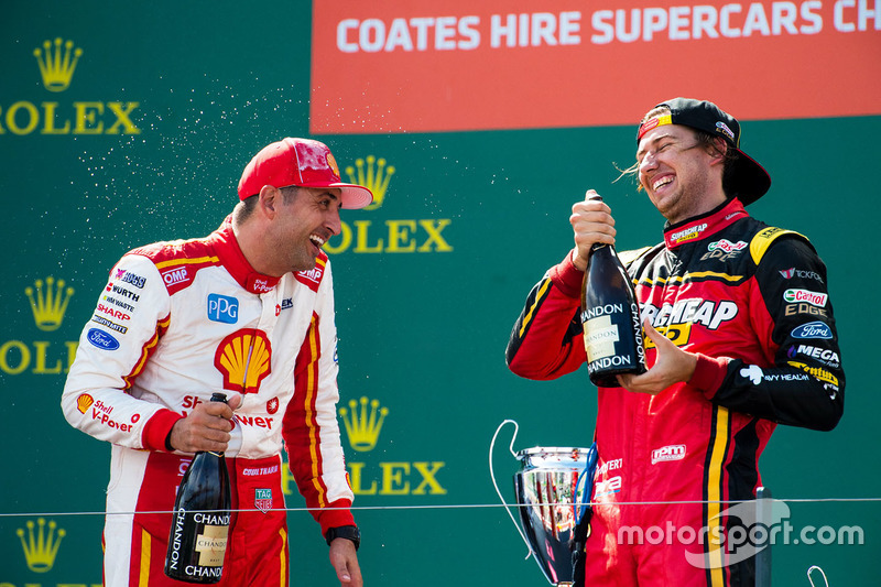 Fabian Coulthard, Team Penske, Ford; Chaz Mostert, Rod Nash Racing, Ford