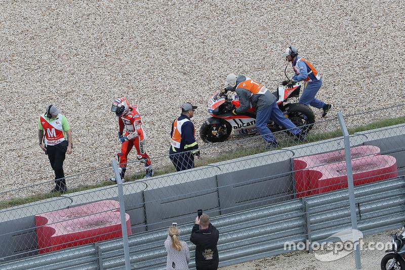 Andrea Dovizioso, 4 kali kecelakaan
