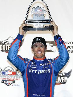Podium: second place Scott Dixon, Chip Ganassi Racing Honda