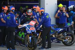 Maverick Viñales, Yamaha Factory Racing, Bikewechsel in der Boxengasse
