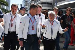 Veniamin Kondrytyev, Governor of Krasnodar Region, Dmitry Kozak, Deputy Prime Minister of the Russian Federation and Bernie Ecclestone (GBR)
