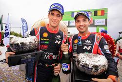 Les troisièmes Thierry Neuville, Nicolas Gilsoul, Hyundai i20 WRC, Hyundai Motorsport
