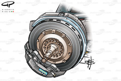 WIlliams FW25 Carbone Industries brake discs