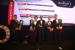 2016 Sprint Cup Overall Drivers, Enzo Ide, champion, Christopher Mies, 2nd place, Dominik Baumann, Maximilian Buhk, 3rd place with Hugo da Silva, Blancpain Events Specialist