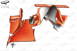 Ferrari F2005 old specification engine cover