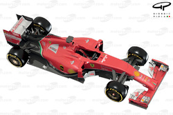 Ferrari F14 T 3/4 view