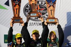 LMGTE Am podium: winners Paul Dalla Lana, Pedro Lamy, Mathias Lauda, Aston Martin Racing