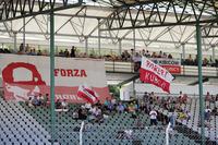 Fans of Robert Kubica, Renault Sport F1 Team, wait in the grandstand