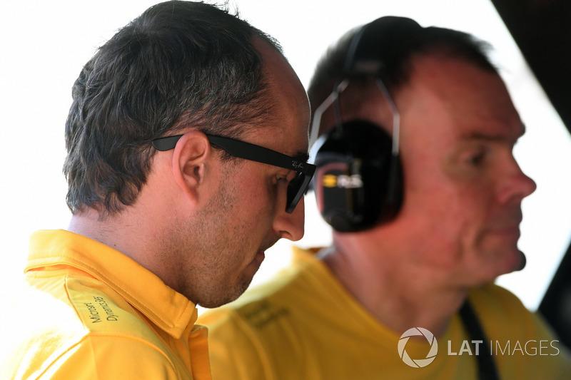 Robert Kubica, Renault Sport F1 y Alan Permane, Renault Sport F1 Team