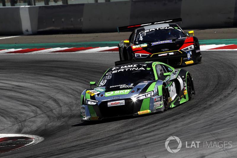#50 YACO Racing, Audi R8 LMS: Philip Geipel, Rahel Frey